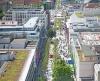 Blick vom Bahnhofsturm auf die Königstraße