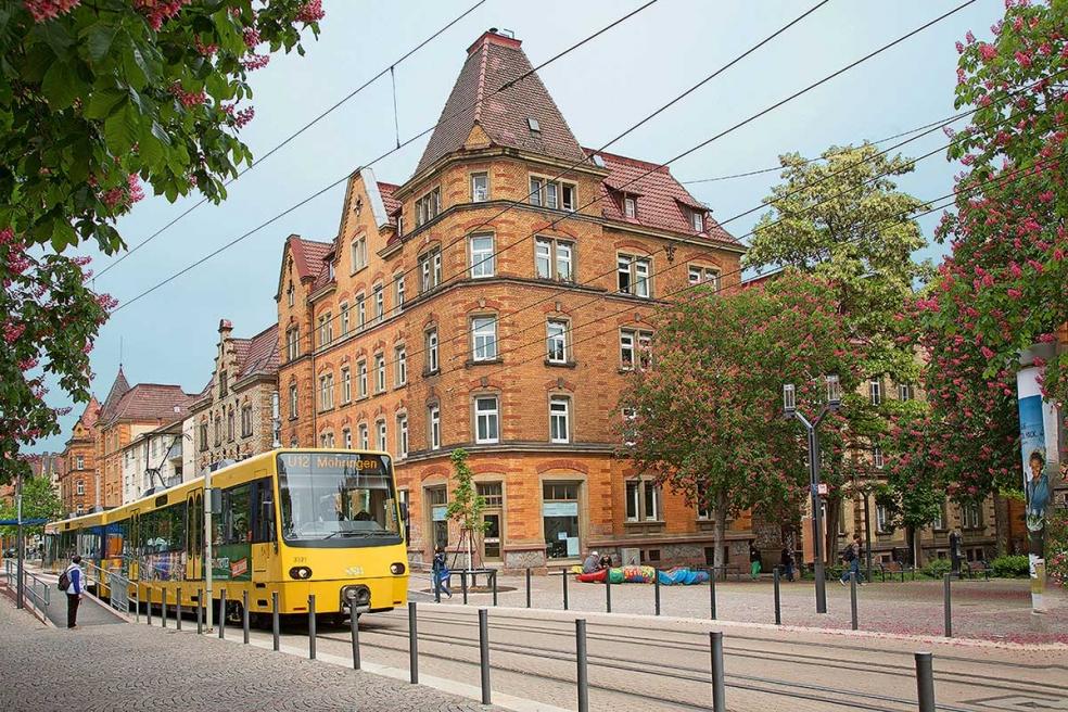 Umgebung, Stadtbahnhaltestelle Mittnachstraße